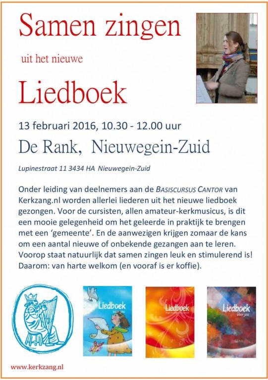 Samen zingen 13 feburari 2016 Nieuwegein Zuid De Rank DEFx